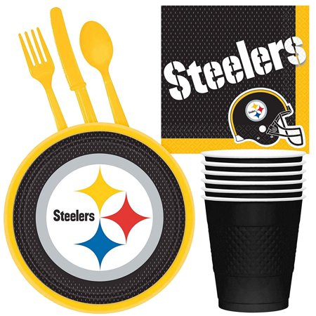 NFL Pittsburgh Steelers Tailgate Party Pack (For 16 - Party City Pittsburgh