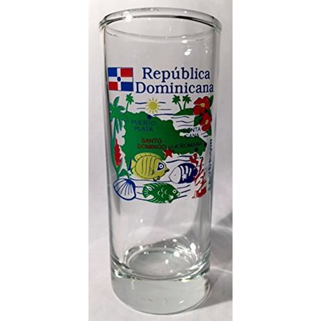 Dominican Republic Clear Map Shooter Shot Glass