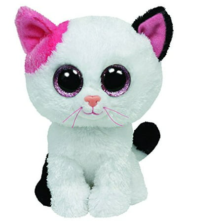 Cp TY Beanie Boos -Muffin the Black and White Cat  (Glitter Eyes) Small 6