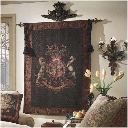 Tapestries, Ltd. European Jacquard-woven Olde World Crest Tapestry