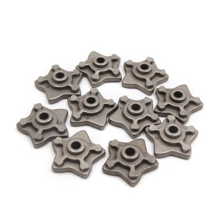 10 Pcs Gray Metal Star Shape Motorcycle Engine Speed Gear Shift Cam for XF125