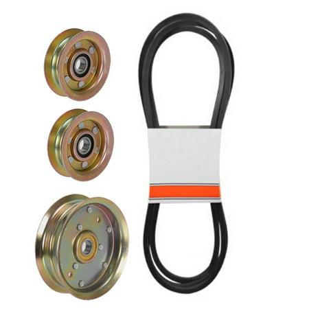 (1) Mower Deck Belt & Idler Pulley Set for John Deere L100 Series 48