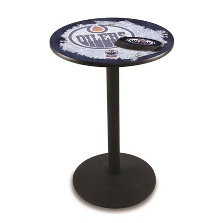 Holland Bar Stool L214B4228EdmOil-D2 42 in. Edmonton Oilers Pub Table with 28 in. Top, Black - image 1 of 1