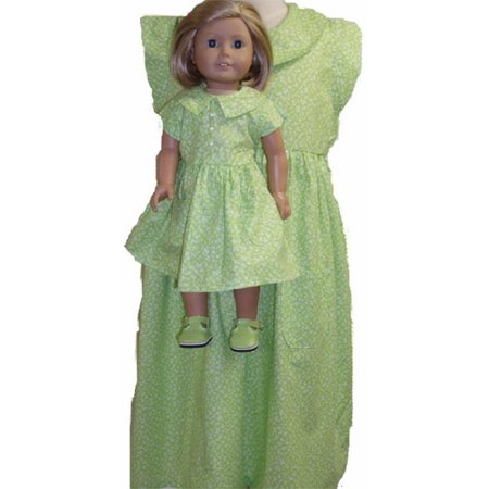 Girls Dresses For Cheap (Matching Designer Long Lime Dress for Girl and Dolls Size)
