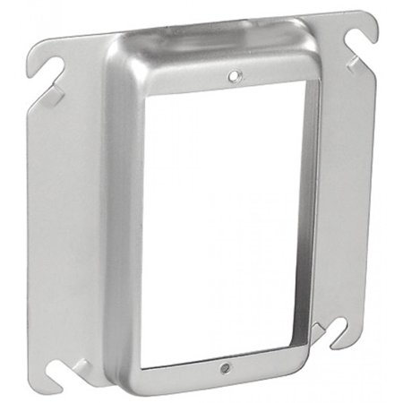 """5 Pcs, Steel 4"""" Square Device Ring, One Gang, 3/4 In. Raised Used w/4In Square Boxes to Mount Switches, Receptacles & Devices"""