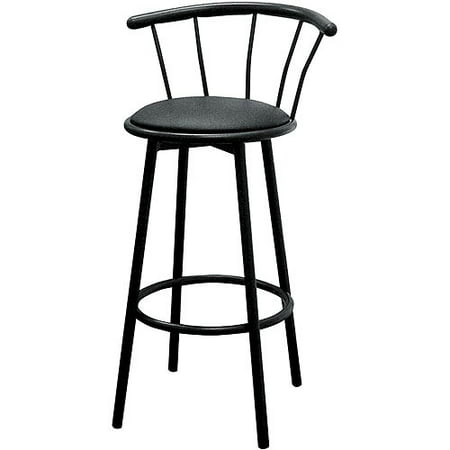 Swell Swivel Bar Stools 29 Set Of 2 Black Gamerscity Chair Design For Home Gamerscityorg