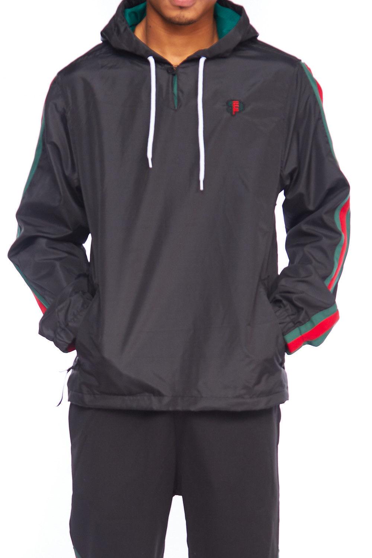 963fa4e13 Genx - Mens Dope Lightweight Windbreaker Colorblock Pullover Hoodie Jacket  18121-5142-S-Black - Walmart.com