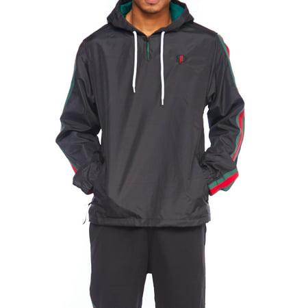 Mens Dope Lightweight Windbreaker Colorblock Pullover Hoodie Jacket 18121-5142-S-Black - Lightweight Pullover Jacket