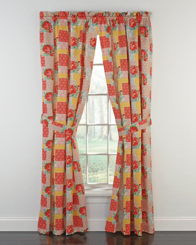"The Pioneer Woman Patchwork Window Curtain Panel, 40""W X"