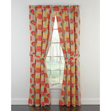The Pioneer Woman Patchwork Window Curtain Panel, 40
