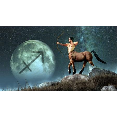 Sagittarius Is The Ninth Astrological Sign Of The Zodiac Canvas Art   Daniel Eskridgestocktrek Images  38 X 21