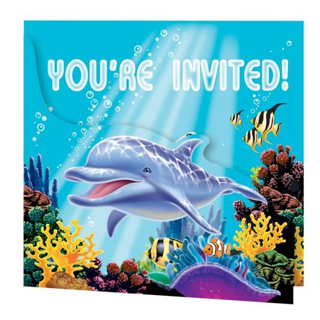 Creative Converting Ocean Party Invitation Gatefold, 8 ct](Creative Halloween Invitations)