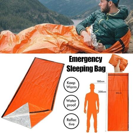 Outdoor Emergency Keep Warm Sleeping Bag for Adventure Survival Camping Hiking Travel - Waterproof - Reusable -
