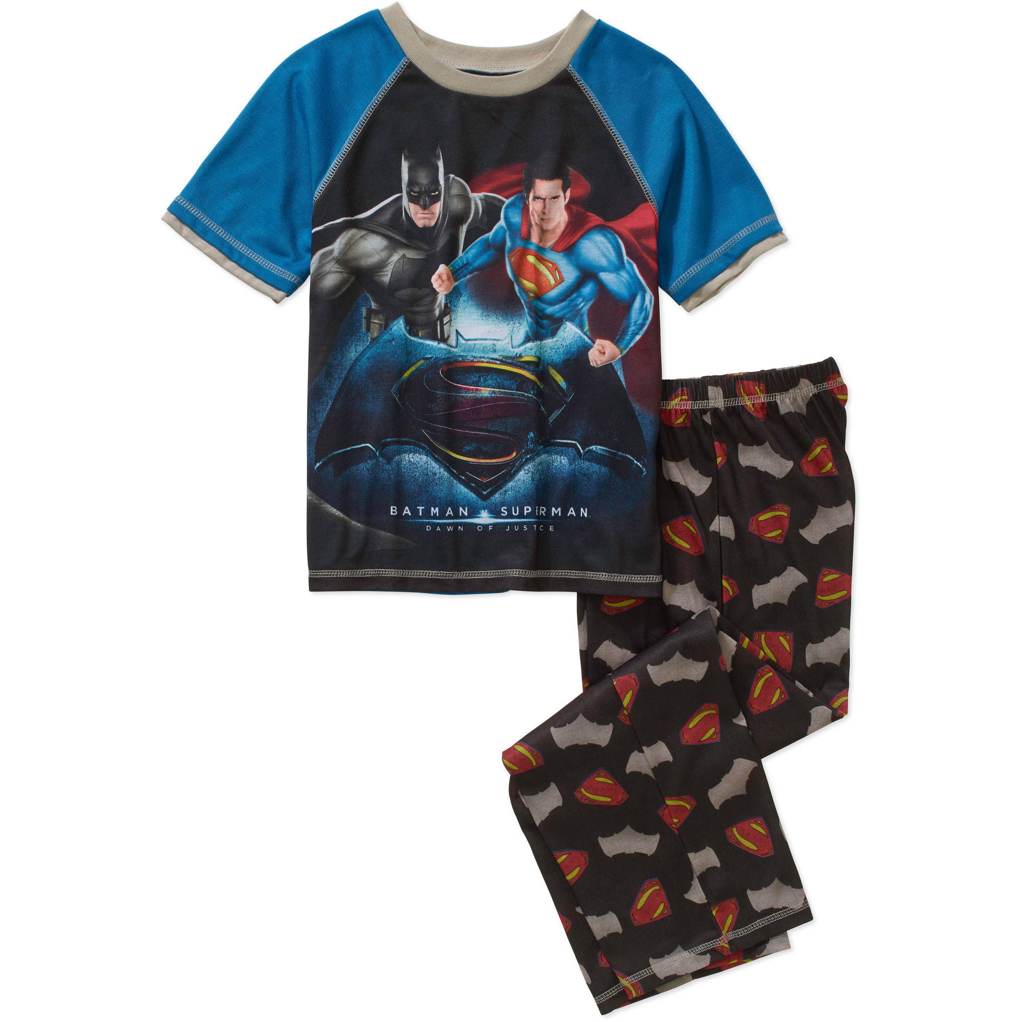 DC Comics Batman V Superman Boys' Poly Jersey Sleep Set