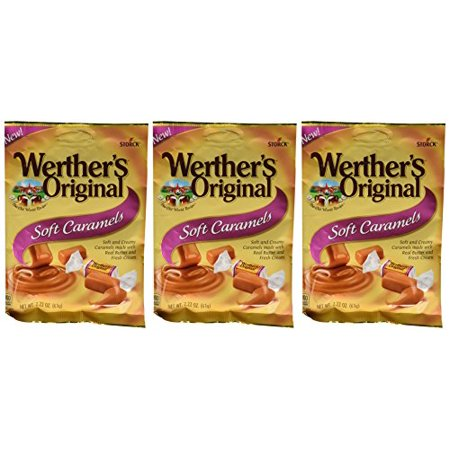 Werther's Original New Soft Caramels 2.22 Oz (63g) (3 Pack)