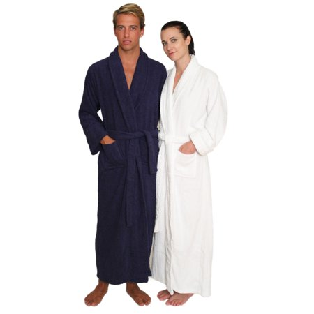 - Men's and Women's Full Length Terry Cloth Robe Long Sleeves 100% cotton by NDK New York