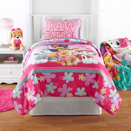 White Plush Twin Bedding Dog Themed