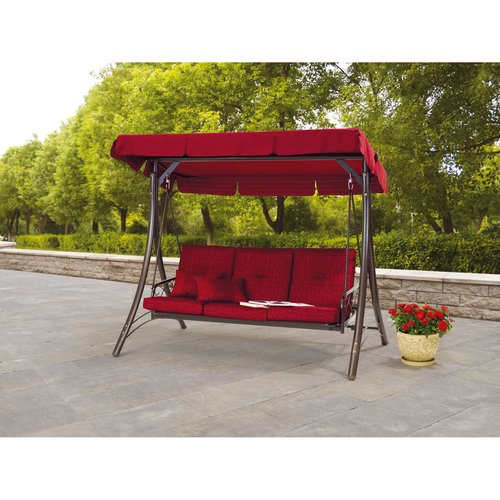 Callimont Park 3-Person Canopy Daybed Swing