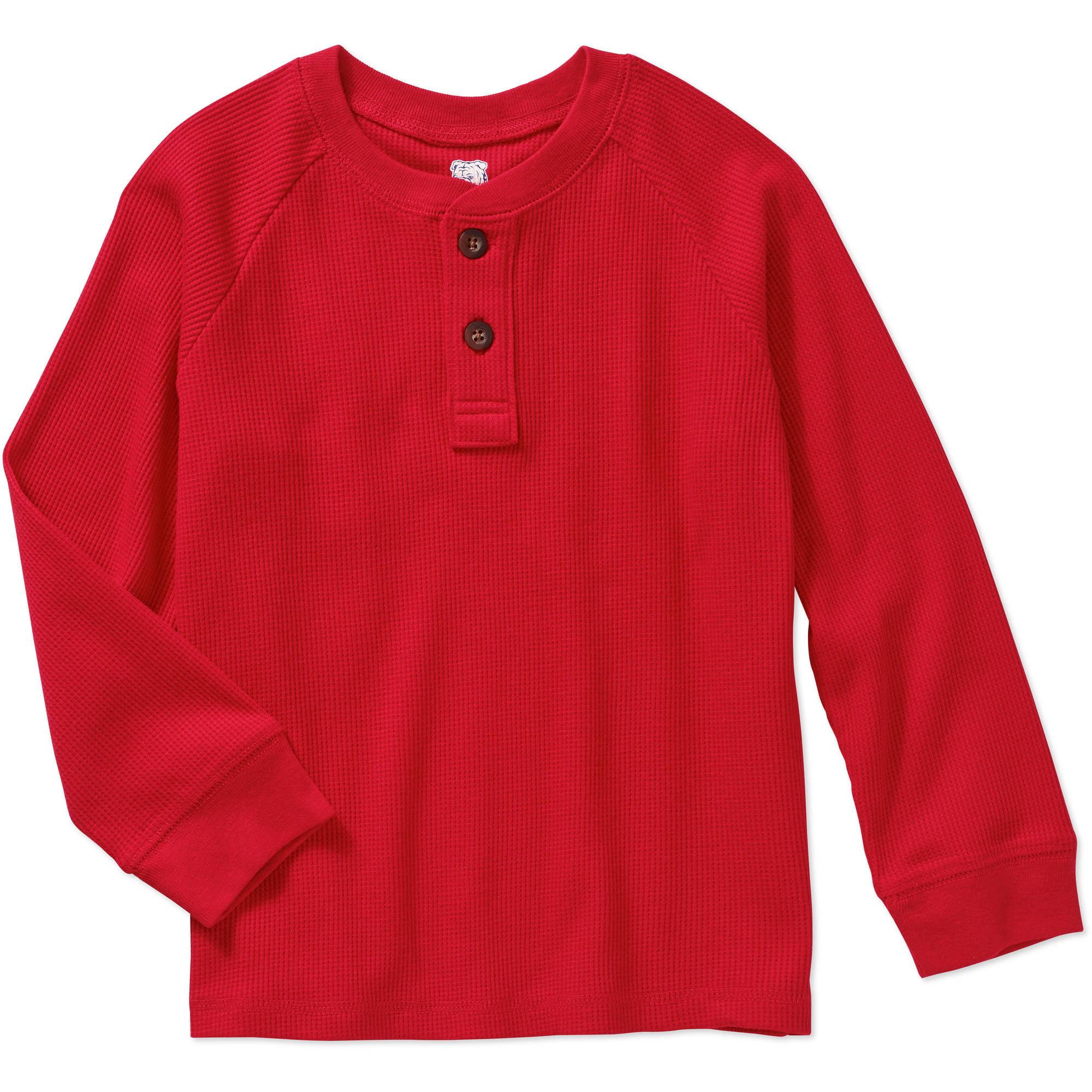 365 Kids From Garanimals Boys' Long Sleeve Thermal Henley Tee Shirt