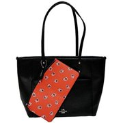 coach city tote bag black & red pouch  wristlet by