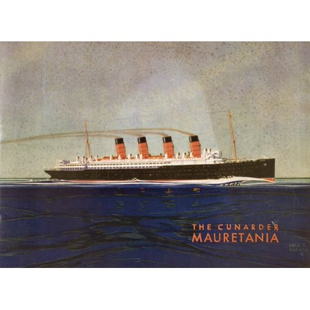 Cunard Line Promotional Brochure For Mauretania Circa 1930 Canvas Art - Ken Welsh  Design Pics (16 x 12)