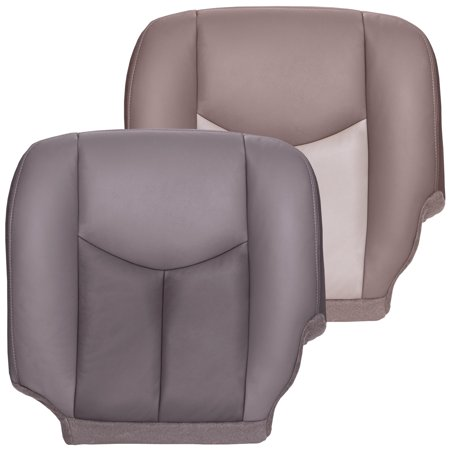 The Seat Shop 2003-2006 GMC Sierra Denali OEM Fit Driver Bottom Cover, Two Tone Gray
