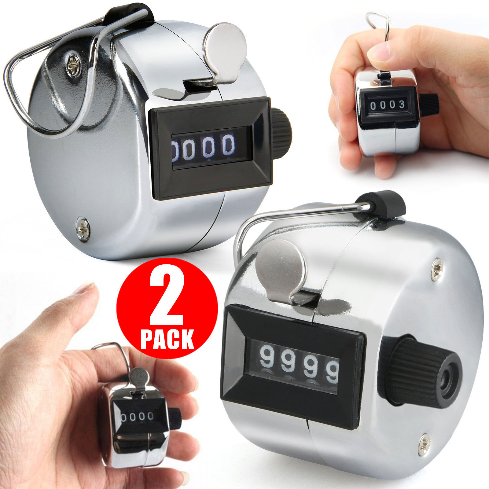 Metal Case Mechanical Clicker Digital Handheld Tall Amble Tally Clicker Counter