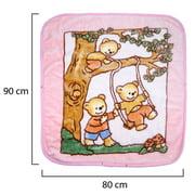 Swaddle Blanket Adjustable Baby Wrap | Toddler and Baby Blanket 2 in 1 Sleep Sack Bag Pink