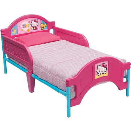 Delta Children Hello Kitty Plastic Toddler Bed