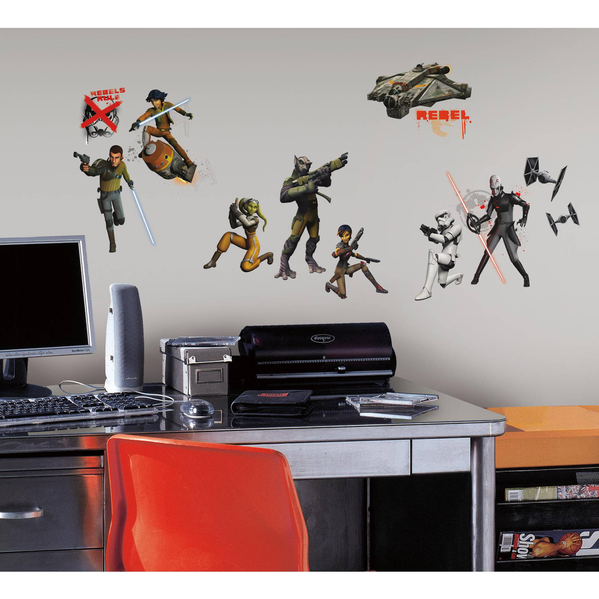 Star Wars Rebels Peel and Stick Wall Decals - Walmart.com