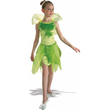 Cute Kids Peter Pan Halloween Costume Tinkerbell Fairy Outfit Childrens Green Tinker Bell Girl Dress (Peter Happy Halloween)
