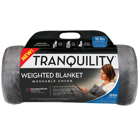 Tranquility Temperature Balancing Weighted Blanket w/ Cover, 18 lbs Now $34.97
