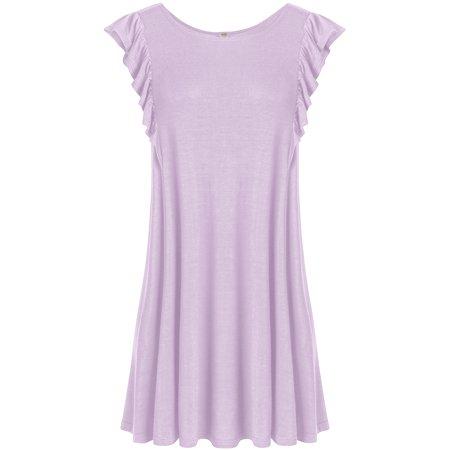 bb84b778653 Simlu - Women s Sleeveless Tunic Flowy Tank Top Plus Size Tunics For ...