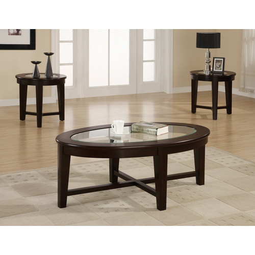 Coaster Occassional 3-Piece Table Set, Dark Cappuccino Finish