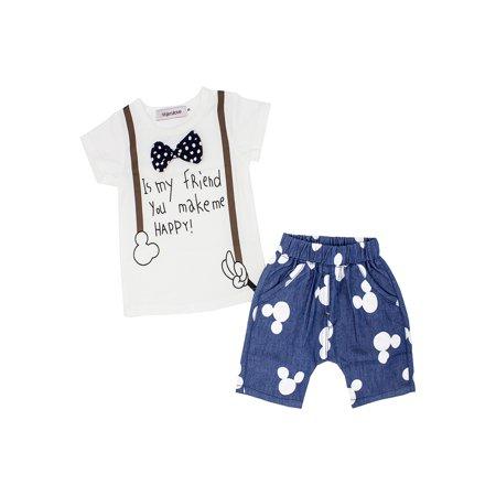 b5cca6163371 StylesILove - StylesILove Baby Boy Polka Dot Bowknot T-shirt and ...
