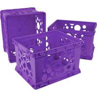 Storex  Mini Crate / School Purple (3 units/pack)