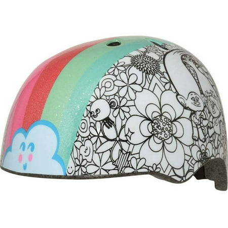C-Preme Trolls Rainbow Hair Color Me Toddler Multisport Helmet
