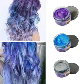 Hair Wax Temporary Hair Coloring Styling Cream Mud Dye - Gray for Halloween  Day