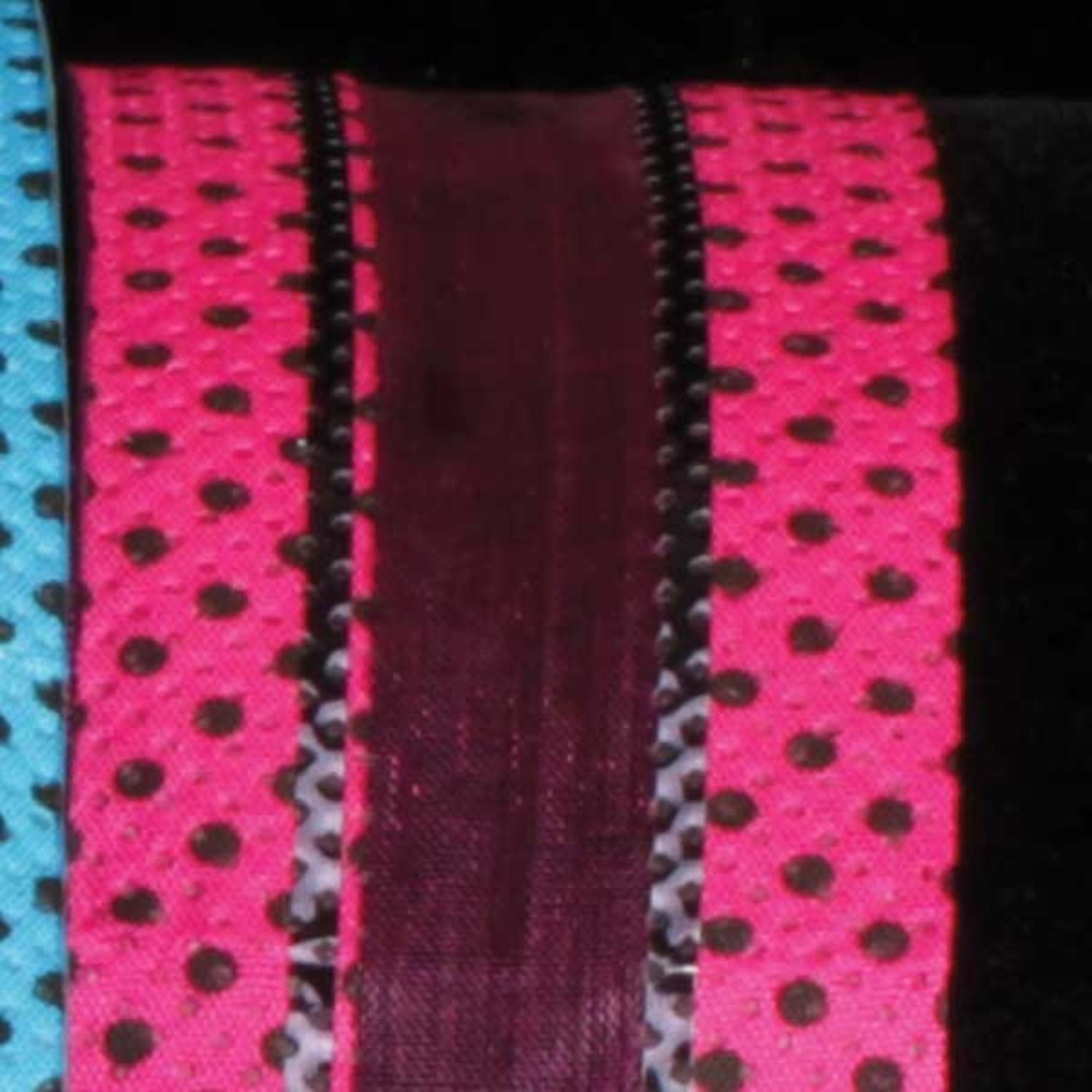 "Just Dotty Bands Hot Pink and Black Sheer Wired Craft Ribbon 1.5"" x 40 Yards"