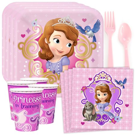 Sofia The First Standard Birthday Party Tableware Kit (Serves 8) - Sofia The First Table Cloth