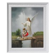 CB Catholic 59-867 Framed Print - Guardian Angel Bridge