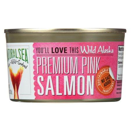 Sea Salmon - Natural Sea Wild Pink Salmon - Unsalted - 7.5 Oz.