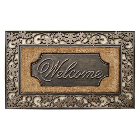 First Impression Large Welcome Outdoor Brush Door Mat