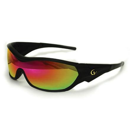 2017 Maxx Sunglasses  TR90 Gold Vision HD 2 Lens V-Touch Black (Summer 2017 Best Sunglasses)