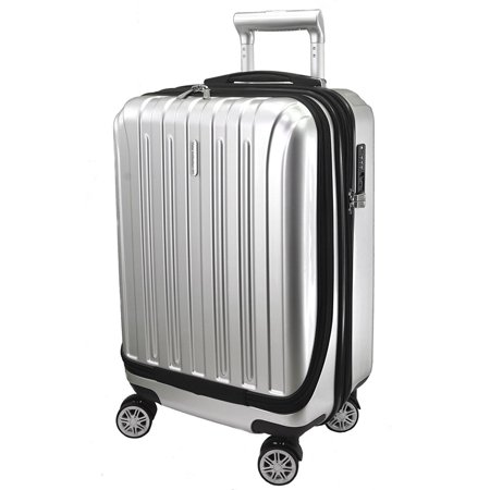 Luggage 20 inch Carry-on Expandable Spinner Trolley with pocket for computer