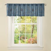 """Butterfly Dreams Blue Valance, 84"""" x 18"""""""