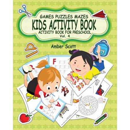 Kids Activity Book ( Activity Book for Preschool ) -Vol. 4](Preschool Art Activity For Halloween)