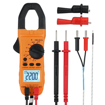 ESYNIC Digital Clamp Multimeter Digital Clamp Meter Tester Auto-Ranging LCD  AC DC Voltmeter Ammeter Ohmmeter Tester Meter Backlight Display Electrical Tester Meter TRMS 6000 Counts with NCV ()