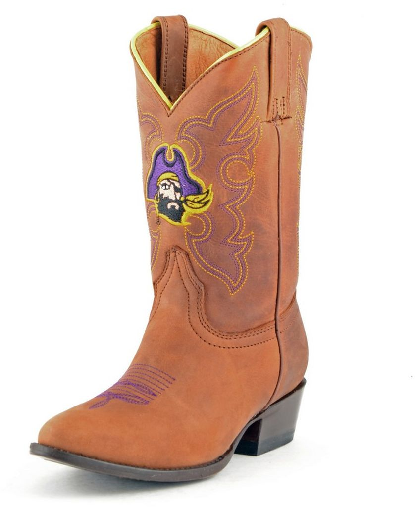 Gameday Boots Boys College Team East Carolina Pirates Honey ECU-B010-1 by Gameday Boots