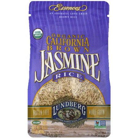 Lundberg Family Farms Organic California Brown Jasmine Rice  16 Oz   Pack Of 6